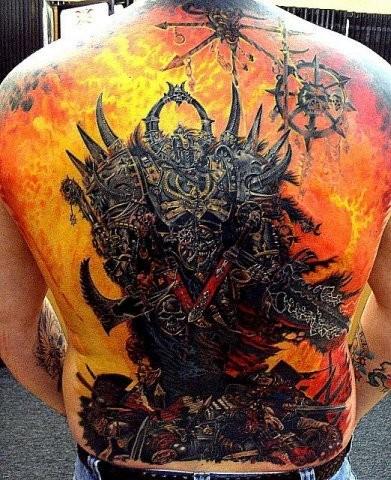 Фото татуировок на спине