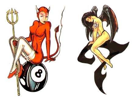 Эскизы татуировок - девушки