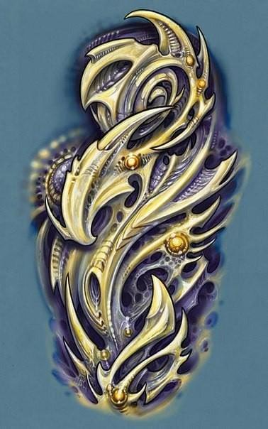 Татуировки биомеханика - Эскизы
