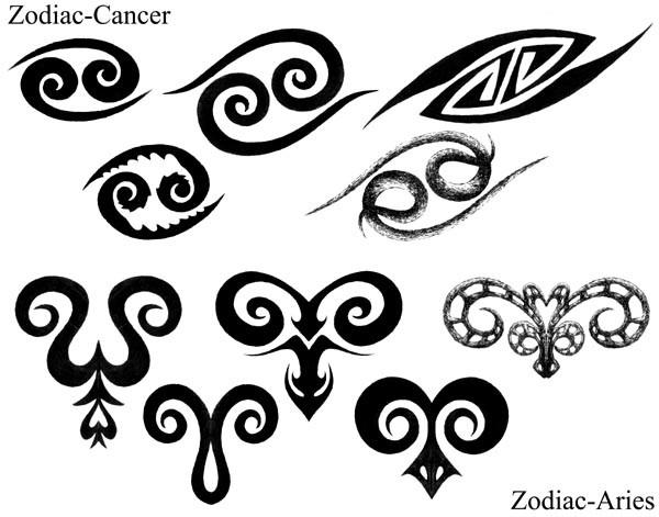 эскизы татуировок со знаком зодиака овен