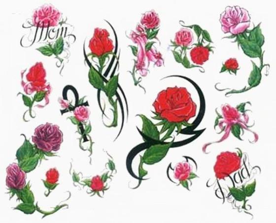 Татуировки цветы - эскизы