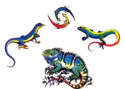 Эскизы татуировок — ящерицы