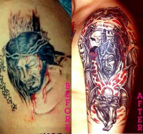 Замена татуировок
