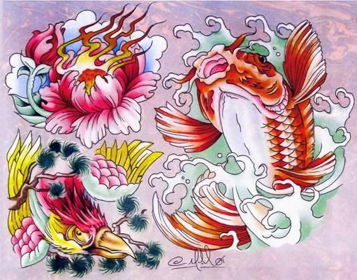 Красочные эскизы татуировок