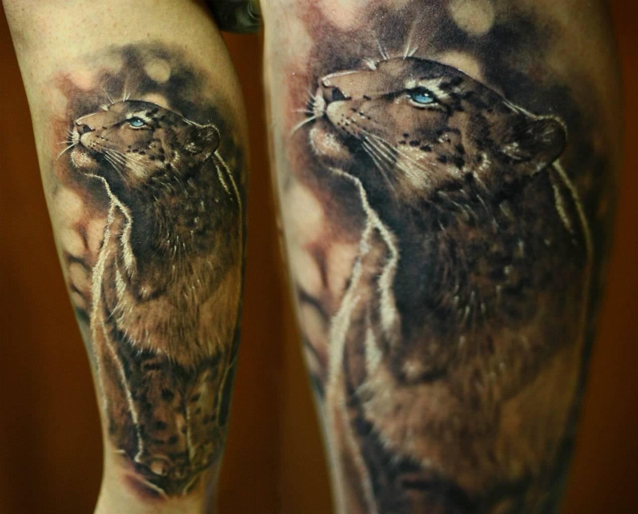 Татуировки в стиле реализм тигр мужские на плече фото