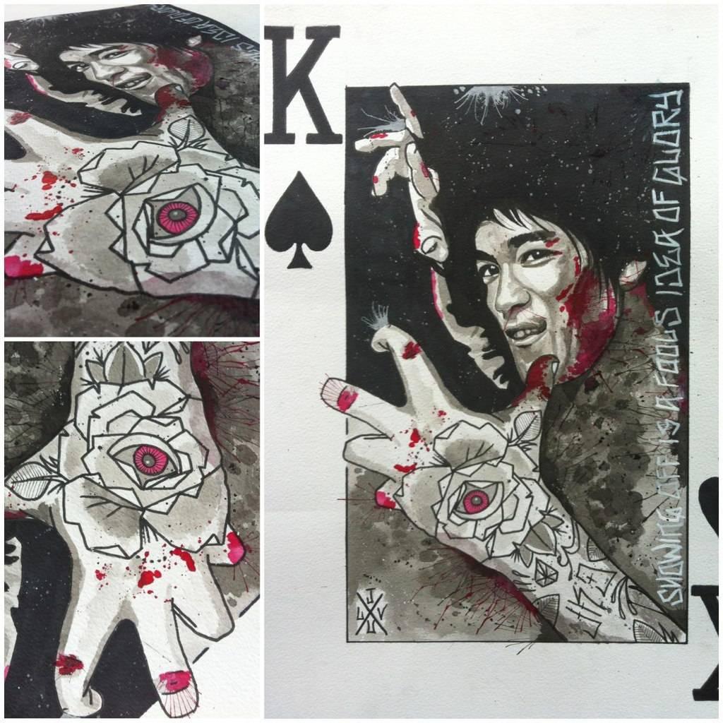 Карты деньги два ствола - тату на плече у парня, добавлено: Юрий Сурков