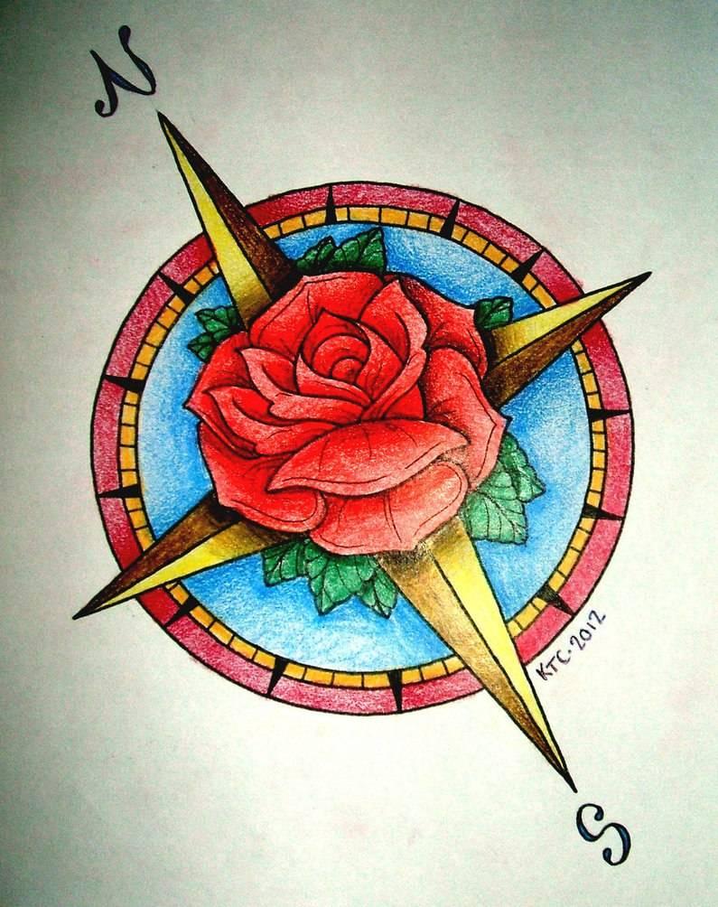 Значение тату компас с розами