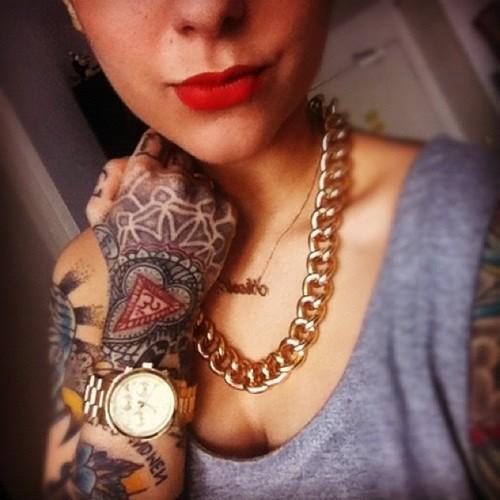 Татуировки на женских телах