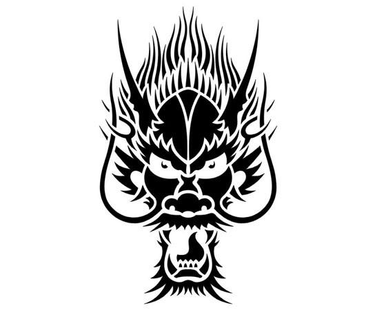 Татуировка Дракон черно-белые эскизы
