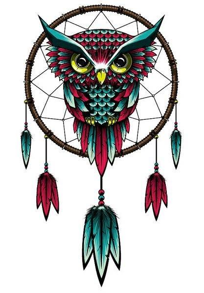 Эскизы татуировок - сова