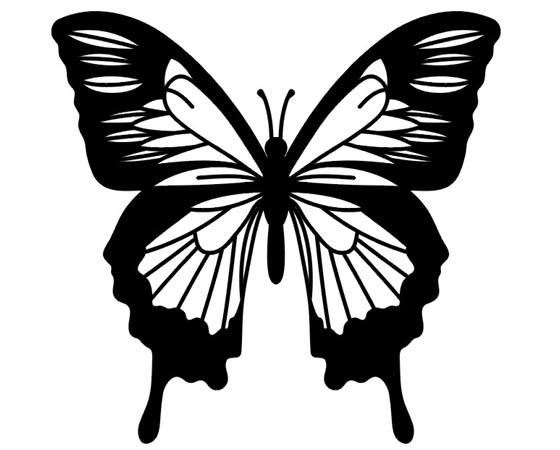 Татуировки бабочки - эскизы