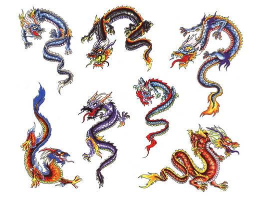 Эскизы цветных татуировок