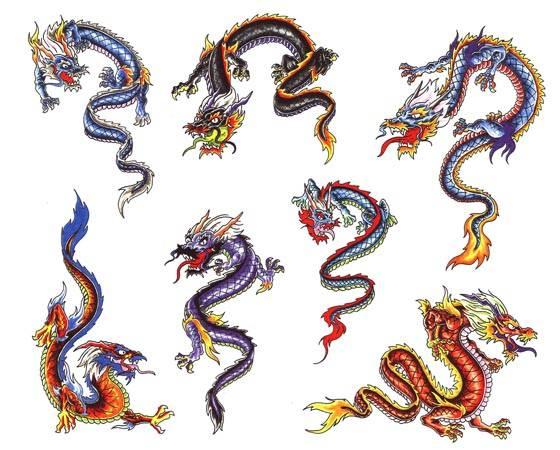 Татуировки драконов - эскизы