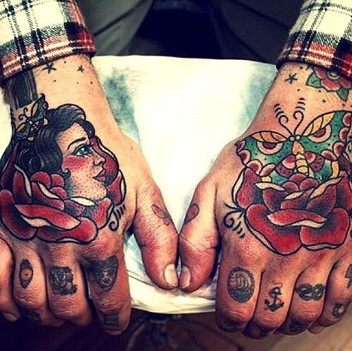 Татуировка на кисть руки мужская