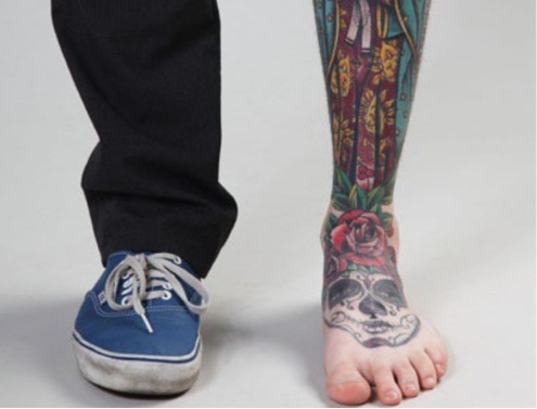 Татушки на ногах