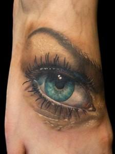 Татуировки на подеме стопы