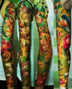 Прекрасные татуировки-рукава